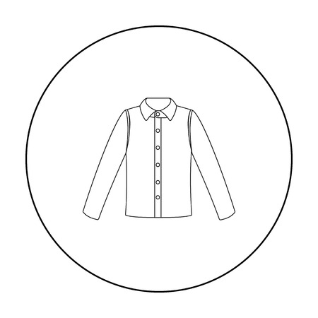 long sleeve shirt: Long sleeve shirt icon of vector illustration for web and mobile