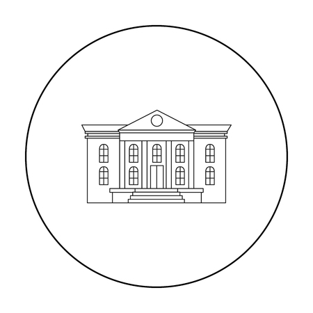 art museum: Museum icon outline. Single building icon from the big city infrastructure outline.