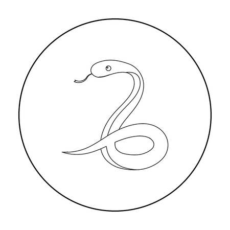 coldblooded: Snake icon outline. Singe animal icon from the big animals outline.
