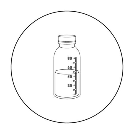 litre: Mixture icon outline. Single medicine icon from the big medical, healthcare outline.