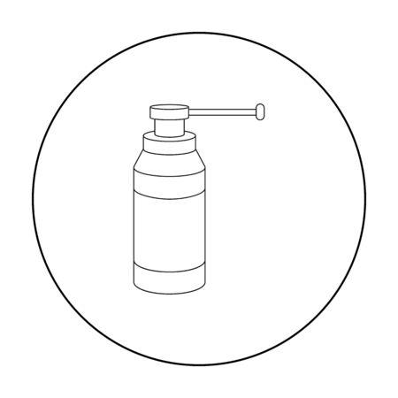 Throat Spray Symbol Umriss. Einzelne Medizinikone von der großen medizinischen, Gesundheitswesenumrisslinie.