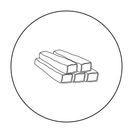 El cangrejo se pega el icono en el estilo de contorno aislado sobre fondo blanco. Ilustración de vector stock carnes símbolo Foto de archivo - 72074180