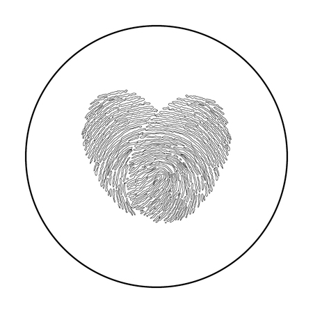 Imprint icon outline. Single icon from the big minority, outline. Vector Illustration