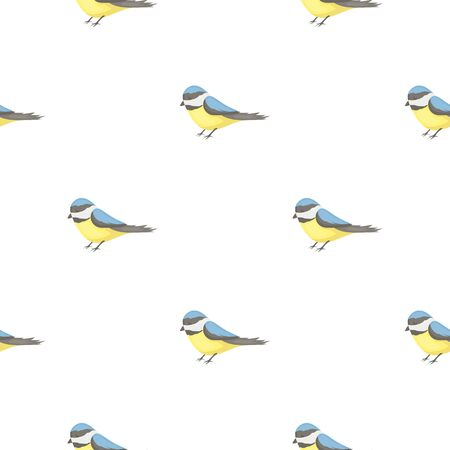 original single: Parus icon in cartoon style isolated on white background. Park pattern stock vector illustration.