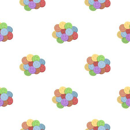 methamphetamine: Ecstasy icon in cartoon style isolated on white background. Drugs symbol stock vector illustration.