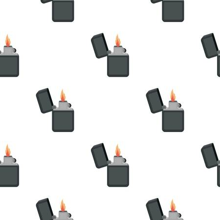gas lighter: Lighter icon in cartoon style isolated on white background. Light source pattern stock vector illustration Illustration