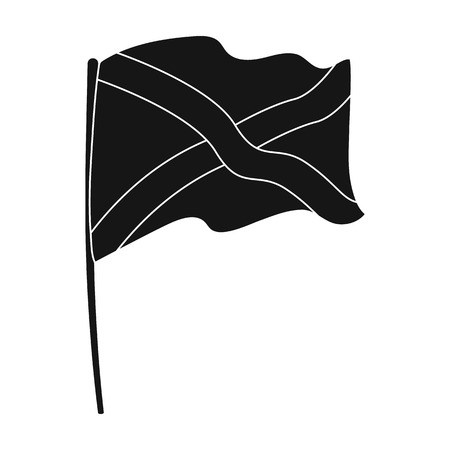Flag of Scotland icon in black style isolated on white background. Scotland country symbol stock vector illustration.