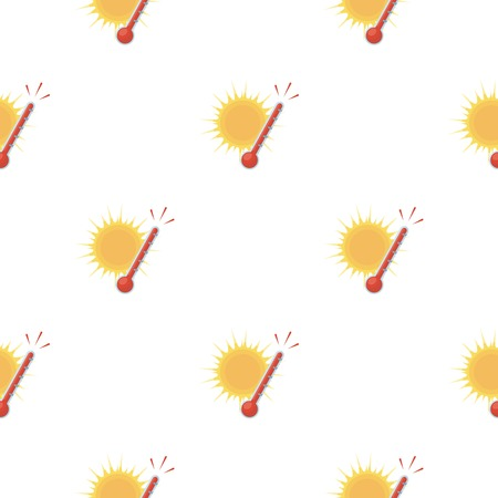 Heat icon in cartoon style isolated on white background. Weather pattern stock vector illustration.