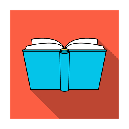 read magazine: Blue opened book icon in flat style isolated on white background. Books symbol stock vector illustration.