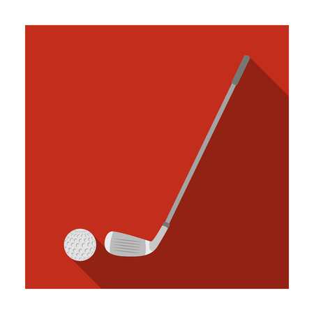Golf icon in flat style isolated on white background. Scotland country symbol stock vector illustration. Illustration