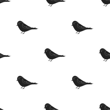 twit: Parus icon in black style isolated on white background. Park pattern stock illustration.