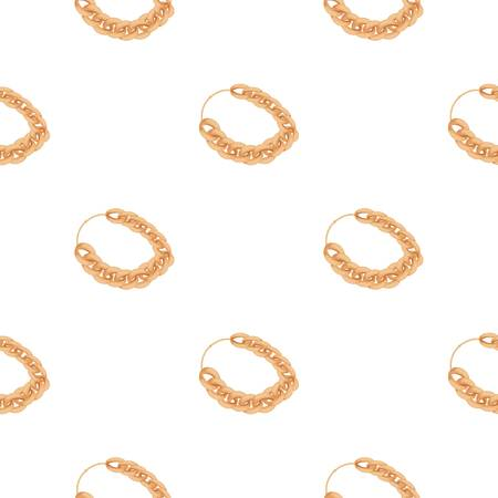 Jewellery chain icon in cartoon style isolated on white background. Jewelry and accessories pattern illustration.