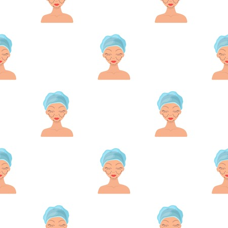 Cosmetic plastic surgery icon in cartoon style isolated on white background. Skin care pattern illustration.