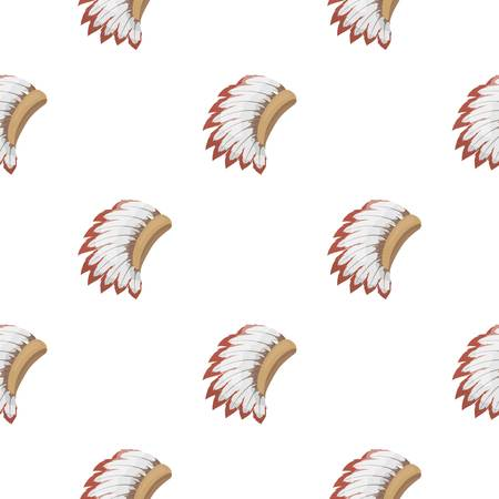War bonnet icon in cartoon style isolated on white background. USA country pattern stock vector illustration.