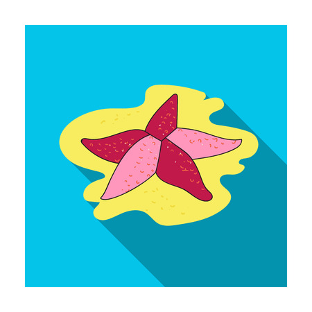 Seastar icon in flat design isolated on white background. Sea animals symbol stock illustration.