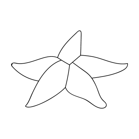 seastar: Seastar icon in outline style isolated on white background. Sea animals symbol stock vector illustration. Illustration