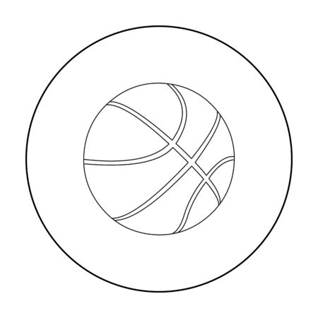 Basketball icon outline. Single sport icon from the big fitness, healthy, workout outline.