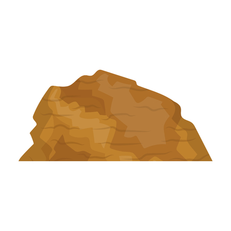 cloudless: Sandy ceremony in wild west .Mountains of sand.Mountains in the desert.Different mountains single icon in cartoon style vector symbol stock illustration.