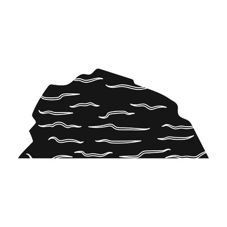 colorado mountains: Sandy ceremony in wild west .Mountains of sand.Mountains in the desert.Different mountains single icon in black style vector symbol stock illustration.