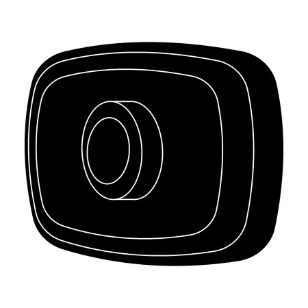 Webcam icon in black style isolated on white background. Personal computer accessories symbol stock vector illustration. Illustration