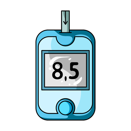 A device for measuring the level of blood sugar.Equipping the patient with diabetes.Diabetes single icon in cartoon style vector symbol stock illustration.