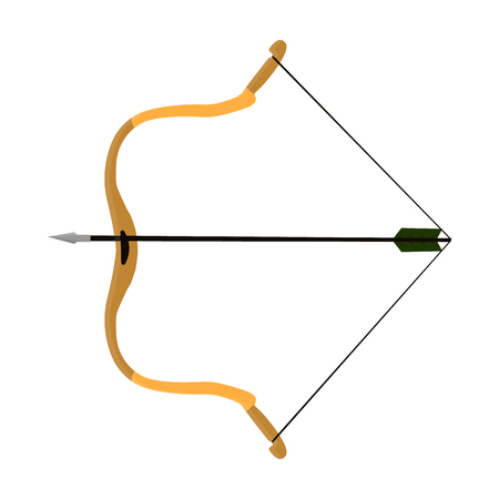 Hunting bow.The main weapon of the ancient Mongols.Mongolia single icon in cartoon style vector symbol stock illustration.