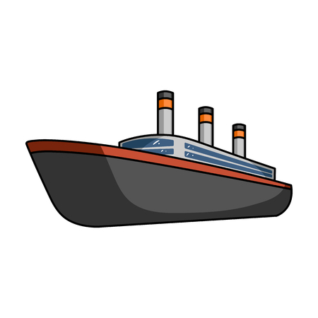 thunderstorms: Huge cargo black liner.Ship for transportation of heavy thunderstorms on the sea and the ocean .Ship and water transport single icon in cartoon style vector symbol stock illustration.