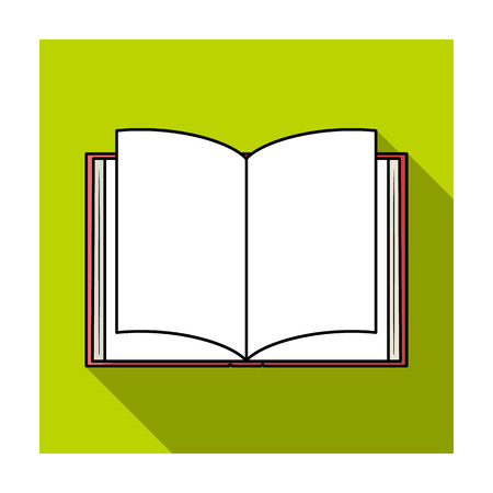 read magazine: Opened book icon in flat style isolated on white background. Books symbol stock vector illustration.