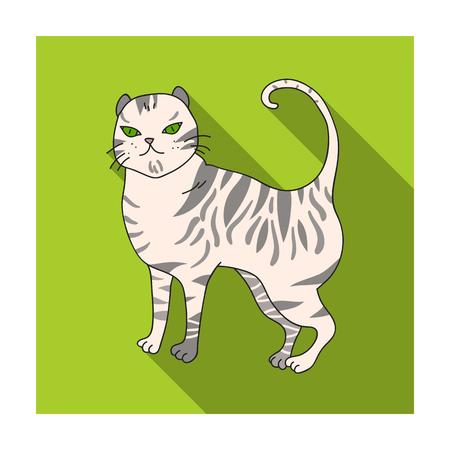 Brits korthaar pictogram in vlakke stijl geïsoleerd op een witte achtergrond. Kat broedt symbool voorraad vectorillustratie.