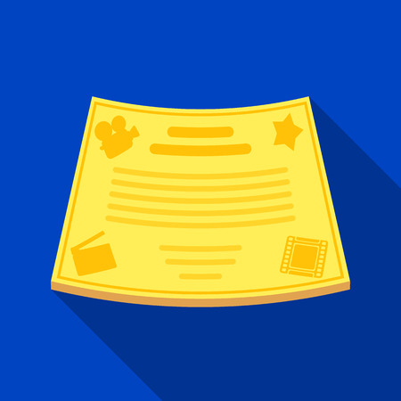 Bronzen certificaat voor de beste hoofdrol in de film.Movie awards single icon in plat stijl vector symbool stock illustratie. Vector Illustratie