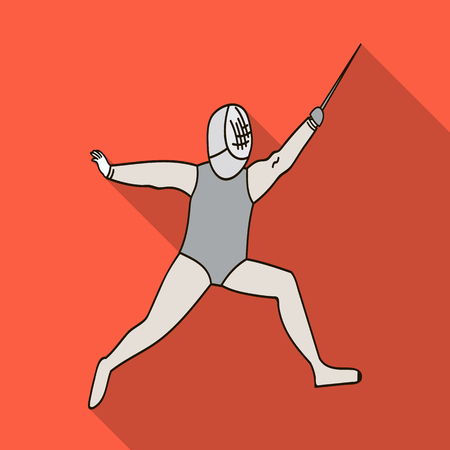 The athlete outfit with a sword.Fencing competitions . Illustration