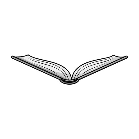 read magazine: Opened book icon in monochrome style isolated on white background. Books symbol stock vector illustration.