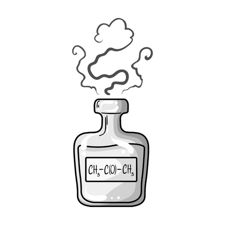 phial: A vial of green potion.Medicines for diabetics.Diabetes single icon in monochrome style vector symbol stock illustration.