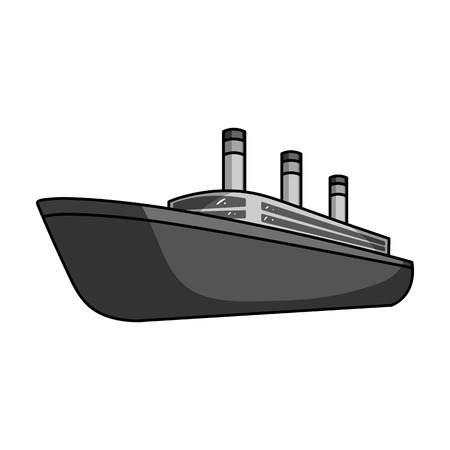 thunderstorms: Huge cargo black liner.Ship for transportation of heavy thunderstorms on the sea and the ocean .Ship and water transport single icon in monochrome style vector symbol stock illustration.