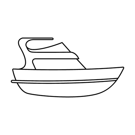 Expensive yacht for rich people.Yacht for vacations and short trips.Ship and water transport single icon in outline style vector symbol stock illustration.