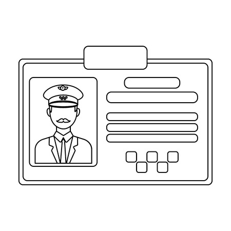 plastik: Driver document taxi.Plastik card taxi driver with photo Taxi station single icon in outline style vector symbol stock illustration.
