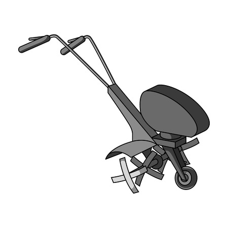 mowers: Mowers for cutting grass and lawn. Agricultural machinery for the court.Agricultural Machinery single icon in monochrome style vector symbol stock illustration.