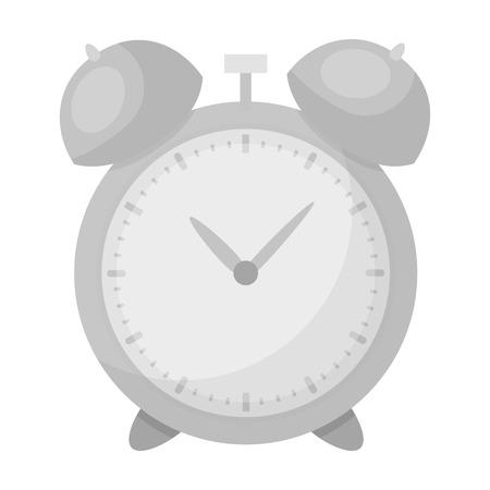 Despertador para temprano Despierta a la escuela. Reloj para no llegar tarde a la escuela. Escuela y Educación solo icono en estilo monocromo símbolo del vector stock photo.