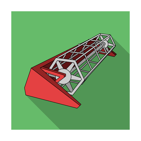 Metal attachment to the tractor for the harvest. Modern agricultural machinery.Agricultural Machinery single icon in flat style vector symbol stock illustration.