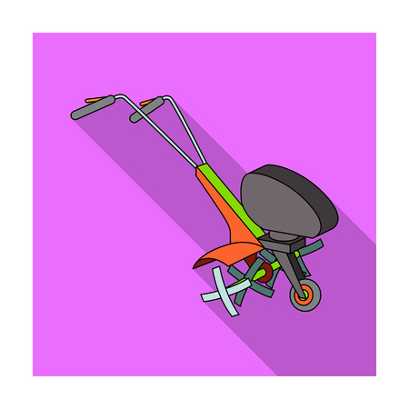 mowers: Mowers for cutting grass and lawn. Agricultural machinery for the court.Agricultural Machinery single icon in flat style vector symbol stock illustration.