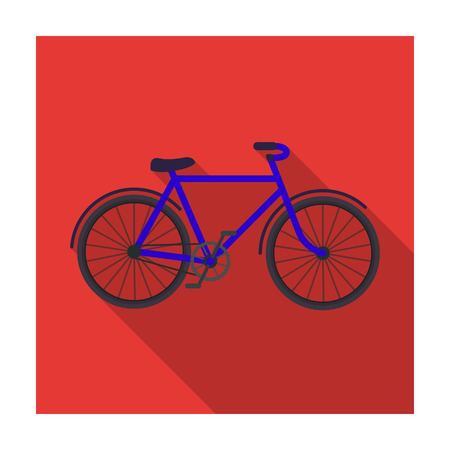 economic cycle: Walking bicycle with large shields and curves driving. Economical transport.Different Bicycle single icon in flat style vector symbol stock illustration.