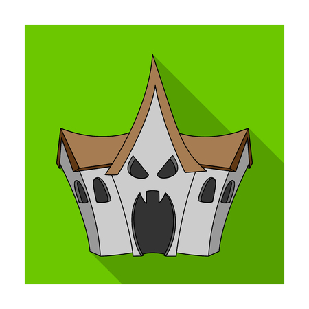 A haunted house, a room of fear in an amusement park. Attraction for the fearless.Amusement park single icon in flat style vector symbol stock illustration.