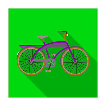 Road bike for walking with a semicircular frame.Different Bicycle single icon in flat style vector symbol stock illustration. Illustration