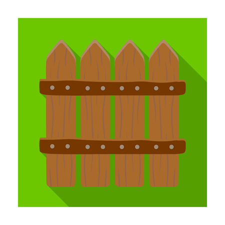 sectional: Wooden decorative sectional fence. Fencing for the protection of the garden.Farm and gardening single icon in flat style vector symbol stock illustration.