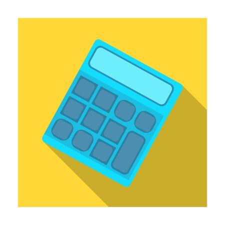 Calculator. Machine to quickly count data. Math .School And Education single icon in flat style vector symbol stock illustration. Illustration