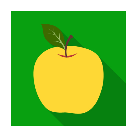Red Apple. Snack at school. Lunch at the break.School And Education single icon in flat style vector symbol stock illustration. Illustration