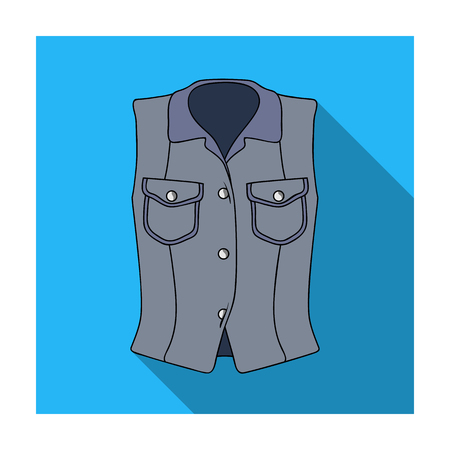 Women Sleeveless Sports Jacket .Beige button-down shirt without sleeves for the girl. Sport dress style.Women clothing single icon in flat style vector symbol stock illustration.