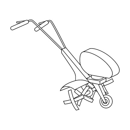 mowers: Mowers for cutting grass and lawn. Agricultural machinery for the court.Agricultural Machinery single icon in outline style vector symbol stock illustration.