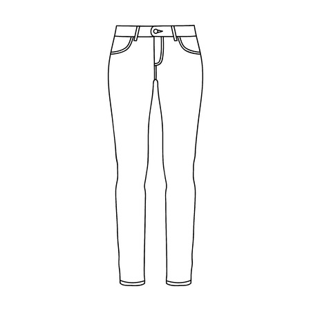 Green skinny pants for women. Women s clothes for a walk.Women clothing single icon in outline style vector symbol stock web illustration. Ilustração