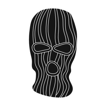 guerrilla: Mask to close the face of the offender from witnesses.Prison single icon in black style vector symbol stock illustration. Illustration